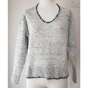 Hummingbird Gray & Black Sweater
